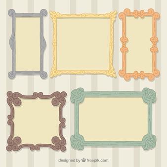 Paquet de cadres décoratifs photo dans le style vintage