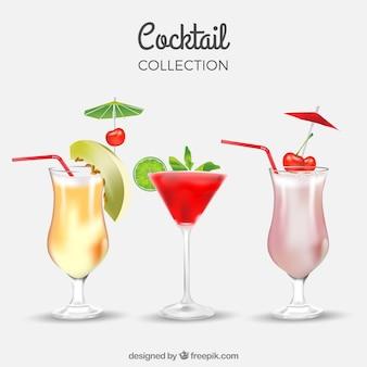 Paquet de délicieuses boissons d'été
