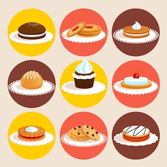 Paquet de desserts savoureux