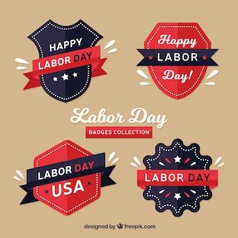 Paquet de logos rétros du jour du travail