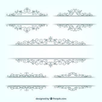 Paquet de mariage floral cadres en design plat