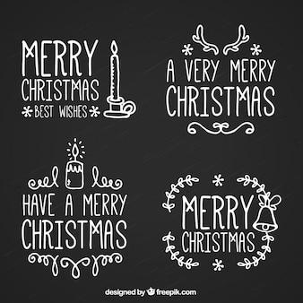 Paquet de messages de Noël mignon avec des dessins