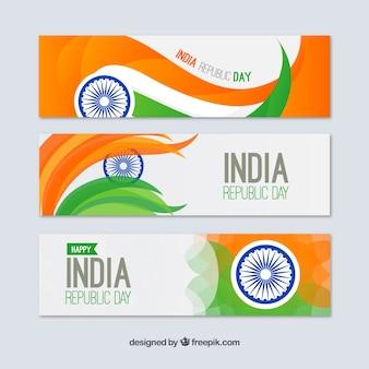 Paquet de republica indien bannières jour
