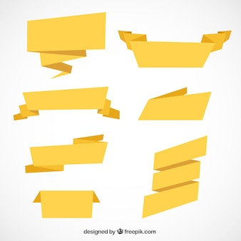 Paquet de sept rubans dans un style géométrique