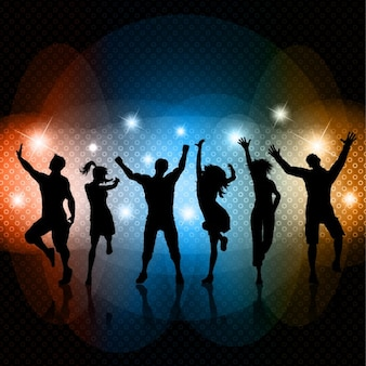 Parti silhouettes dancing