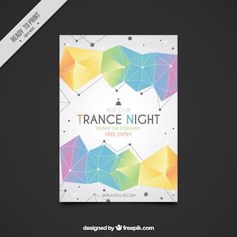 Party flyer template avec des formes géométriques colorées