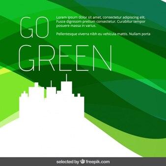 Passez au vert ondulée fond