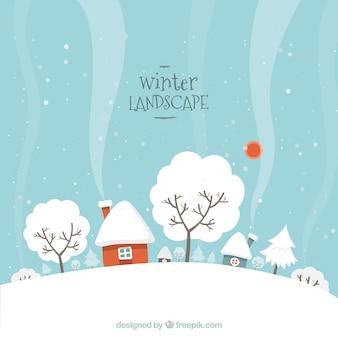 Paysage d'hiver neigeux