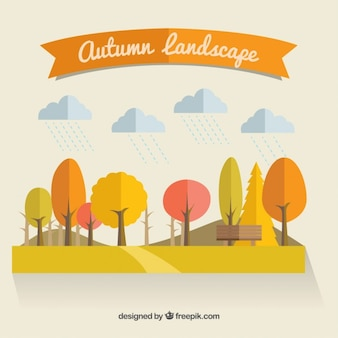 Paysage d'automne naturelle