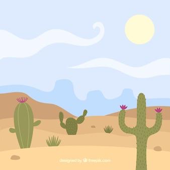 Paysage désert de cactus