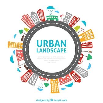 Paysage urbain ronde