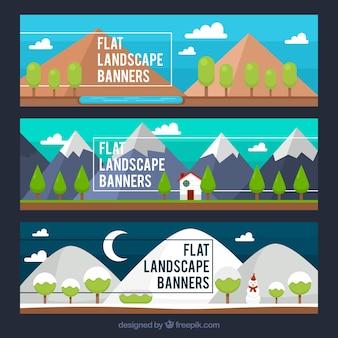 Paysages dans les différentes saisons