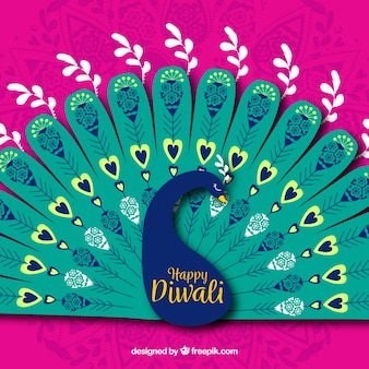 Peacock diwali background