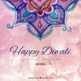Peint à la main heureuse diwali fond