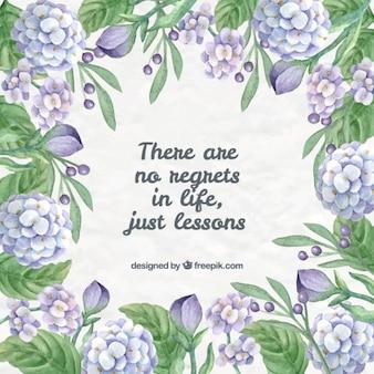 Pensée positive avec des fleurs