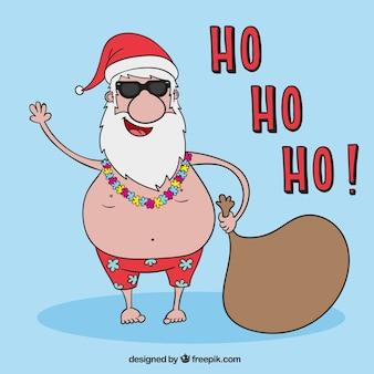 Père Noël en vacances