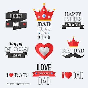 Pères heureux badges de jour