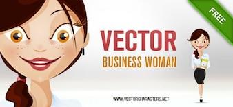 Personnage de la femme d'affaires vecteur