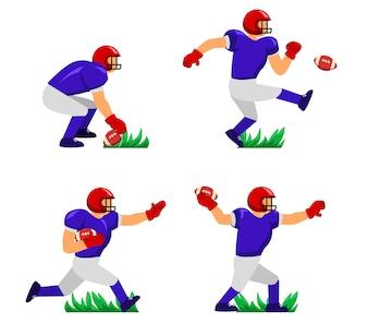 Personnage du joueur de football américain