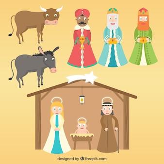 Personnages de scène de la Nativité