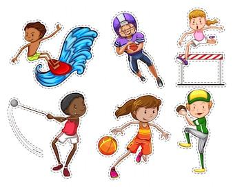 Personnes faisant différents types d'illustration sportive