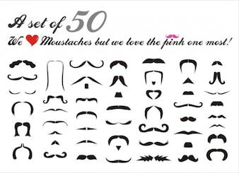 Personnes pack de vecteur de moustache