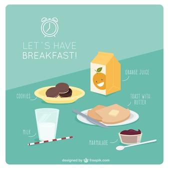 Petit-déjeuner savoureux pour commencer la journée