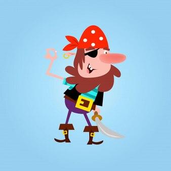 Petits garçons barbus pirates voleur matelot de dessin animé