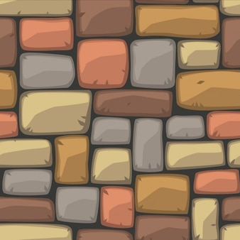 Pierre bande dessinée Seamless texture Vector illustration