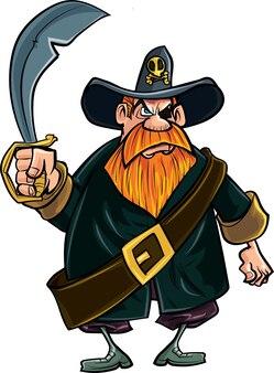 Pirate au couteau