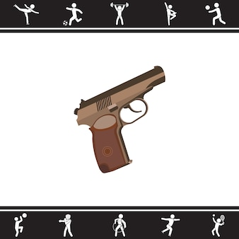 Pistolet. illustration vectorielle