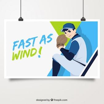 Pitcher illustration affiche