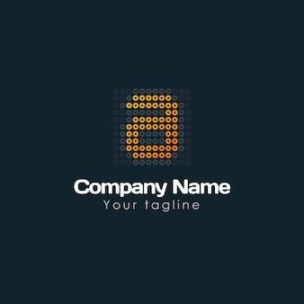 Pixeled letter a logo