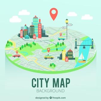 Plan de la carte de la ville