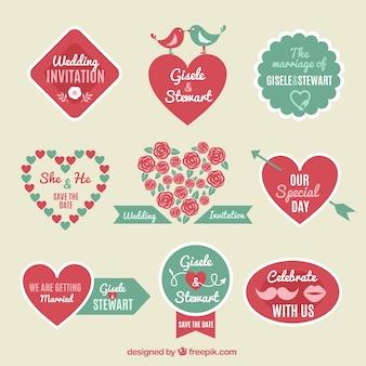 Plates étiquettes de mariage