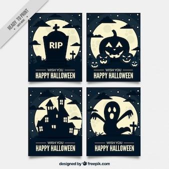 Plusieurs cartes de Halloween