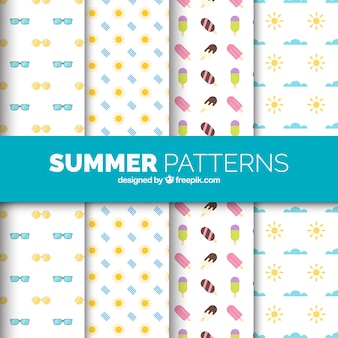 Plusieurs modèles avec des éléments d'été