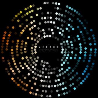 Points vectoriels colorés. Résumé cercles de fond