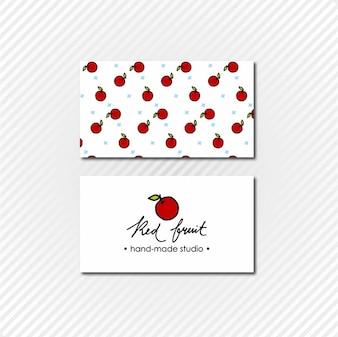 Pomme carte de visite
