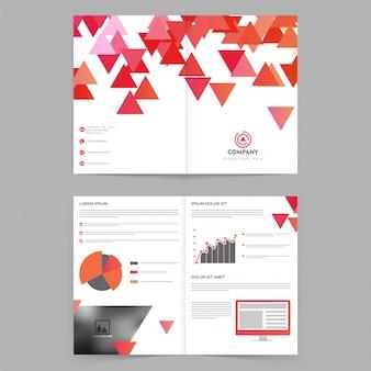 Portefeuille de marketing promotionnel affiche triangulaire