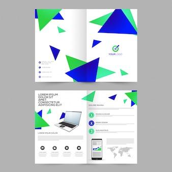 Portfolio de promotion porte-étiquette présentation