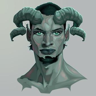 Portrait d'un Faun Vector illustration