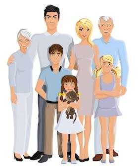 Portrait de génération familiale