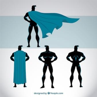 Poses de super héros