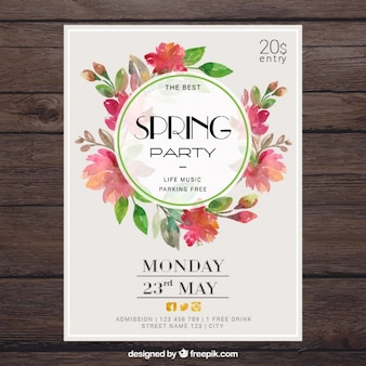 Poster Floral Spring Party