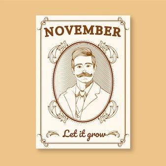 Poster Movember avec un cadre ornemental