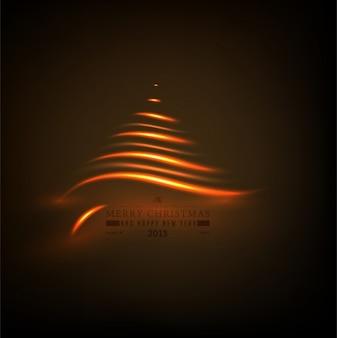 Présentation de l'année de sapin abstrait transparent