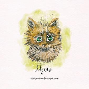 Pretty watercolor cat