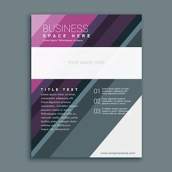 Prime modèle de conception de prospectus brochure commerciale en format papier A4