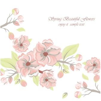 Printemps, beau, fleurs, fond